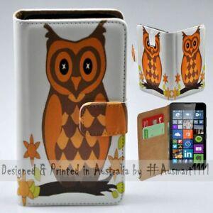 For Nokia Series - Owl Cartoon Theme Print Wallet Mobile Phone Case Cover