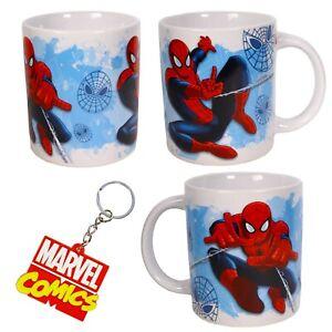 MARVEL COMICS SUPERHEROES - Spiderman Mini Mug & Marvel Keyring - Gift Set