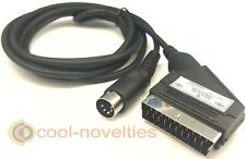 More details for commodore c64 / 64 / 128 scart video cable / tv av lead - 2 metre length
