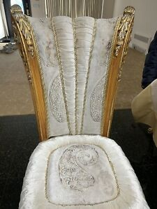 Fine Walnut Solid Wood Carved Chairs  6 CHAIR 2 ARM CHAIR PRICE 450 EACH