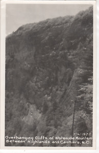North Carolina N C Cashiers Overhanging Cliffs of Whiteside Mountain real photo