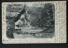 431.-SÄCHS-BÖHM. SCHWEIZ -1901 Edmundsklamm, Blockhaus