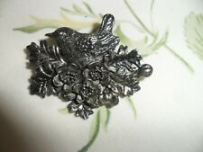 in Flowers Brooch. Very good condition. Very Pretty Vintage Signed Masj Bird