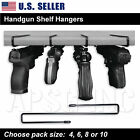 Handgun Shelf Hanger - Pistol Holder Safety Rack Storage Cabinet Organizer Safe
