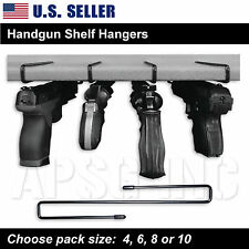 Handgun Shelf Hanger - Pistol Holder Safety Rack Storage Cabinet Organizer Safe