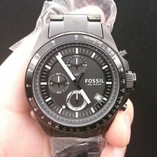 New Old Stock FOSSIL Decker CH2601 Chronograph Stainless Steel Quartz Men Watch