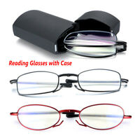 Rotating Diopter Blue Light Blocking Computer Goggles Folding Reading Glasses
