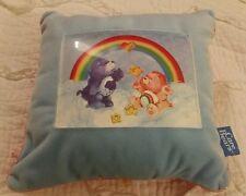 11 x 11 Care Bear pillow Grumpy Bear Cheer Bear 2004 FAB. GUC