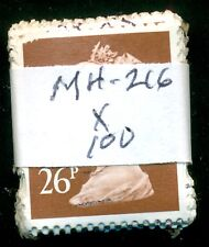 GREAT BRITAIN SG-Y1753, SCOTT # MH-216 MACHIN USED, 100 STAMPS, GREAT PRICE!