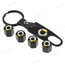 Universal Car Wheel Tire Valve Stems Caps Wrench Keychain Logo For Smart