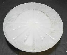 Fire King White Milk Glass Cake Stand 22K Gold
