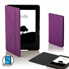 Viola Cuoio Smart ORIGAMI Custodia per Amazon Kindle VIAGGIO + Screen Prot. Stylus