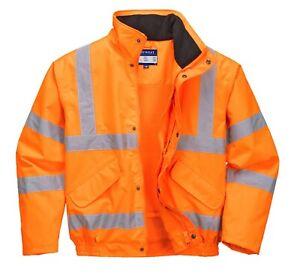 Portwest RT62 Hi Vis Lightweight Breathable Waterproof Bomber Safety Jacket Coat