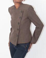Armani Collezioni Vintage Ladies Asymmetric Brown Jacket Size Italian 42 UK 10