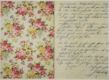 Carta di riso per Decoupage Decopatch Scrapbook Craft sheet vintage lettera & Rose
