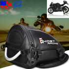 Universal PU Leather Motorcycle Rear Seat Tail Bag Luggage Storage Bag Backpack