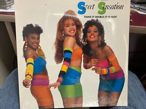 SWEET SENSATION take it while it's hot LP 1988 Atco 90917 PROMO SEALED FREESTYLE