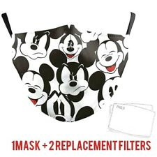 Mickey Mouse Adult & Kid's Protective Face Mask With Pocket Filter