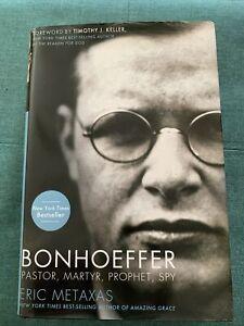 Bonhoeffer : Pastor, Martyr, Prophet, Spy by Eric Metaxas 2010 Hardcover,Signed