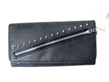 Jessica Simpson Women's Ladies Zelly Trifold Wallet Black New NWT