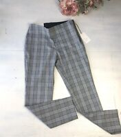 A New Day Target Skinny Ankle High Rise Stretch Black Plaid Pants NWT Size 4R #S