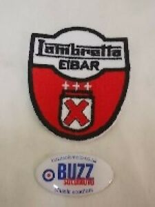 Lambretta Eibar Embroidered Sew on Patch Badge Shield 005676