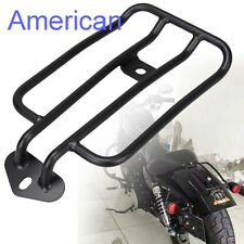 Black Luggage Rack Solo Seat For Harley Davidson Sportster XL883 1200 2004-2015