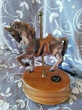 Albert E Price Carousel Collection Music Box Wood Base Limited Edition 3138/9500
