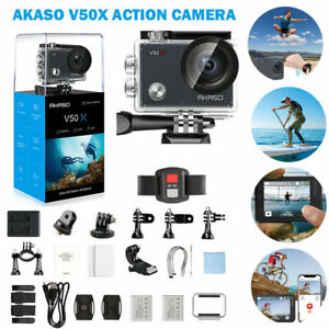 2021 New AKASO V50X Ultra HD 4K Action Camera WiFi Eis Touch Screen +32G SD Card
