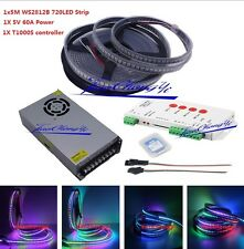 5M 720LED WS2812B 5V 5050 RGB individually addressable +T1000S controller+power