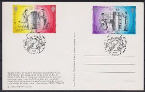 Jersey FDC 192 - 195 Zd Print Together, Postmarked 1979 Card, Frist Day