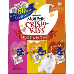 Monpetit Japan Crispy Kiss Cat Food Chicken,Fish Variety pack 180g×5pcs 2020