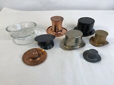 Vintage Lot of 8 Advertising Top Hats Military Trinket Dish (HD25)