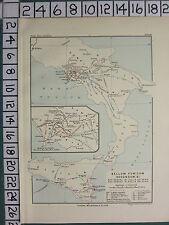 HISTORICAL MAP BATTLE PLAN + TEXT ~ SECOND PUNIC WAR 215 - 211 BCITALY SICILY