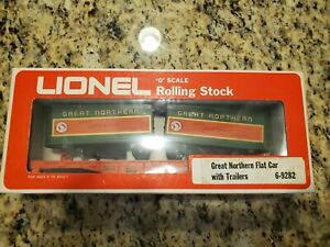 Lionel Great Northern Flat Car With Trailers