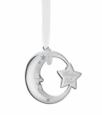 Reed & Barton 2017 Baby Boy First Christmas Blue Moon Silverplate Ornament