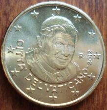 50 cent 2012 VATICANO VATIKAN VATICAN BU FDC UNC da Rotolino From Roll BENEDICT
