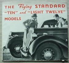 STANDARD TEN & LIGHT TWELVE Car Sales Brochure c1936