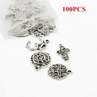 Wholesale 100pcs Bulk Lots Tibetan Silver Mix Charm Pendants Jewelry DIY US