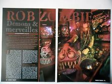 COUPURE DE PRESSE-CLIPPING :  ROB ZOMBIE [7pages]01/2002 Interview,Sinister Urge