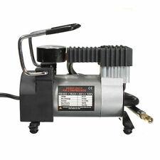 Portable 12V Mini Pump Heavy Duty Air Compressor Tire Inflator Gauge Car Auto
