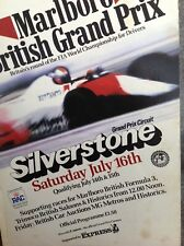 BRITISH GRAND PRIX 14th July 1983 SILVERSTONE Race Official Programme