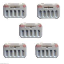 5  PERNI IN FIBRA DI VETRO Dentista Dental Fiber Post Resin Screw Thread Blue