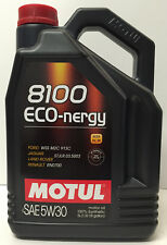 Aceite Motor Ford Land Rover Volvo A5/B5 Motul 8100 Eco-nergy 5W30, 5 L