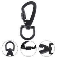 1PC Outdoor D-type Buckle Auto Locking Carabiner With Swivel Rotating RingJ Dz