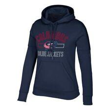 "Columbus Blue Jackets NHL Adidas Women's ""Open Box Stack"" Navy Blue Hoodie"