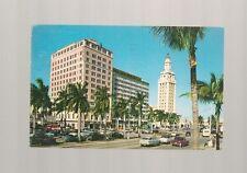Looking North On Biscayne Boulevard, Miami, Florida Postcard G-368