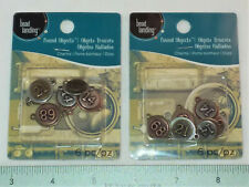 New listing 12 Piece Metal Numbers With 2 Loops- New For Jewelry & Crafting- Made In Usa