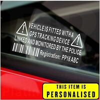 2 x Vehicle Security GPS Tracker Alarm Device Stickers-Car,Van,Cab-Tracking Sign