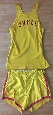 Antique 1940's Shell Gasoline Original Basketball Uniform Jersey + Shorts Maine